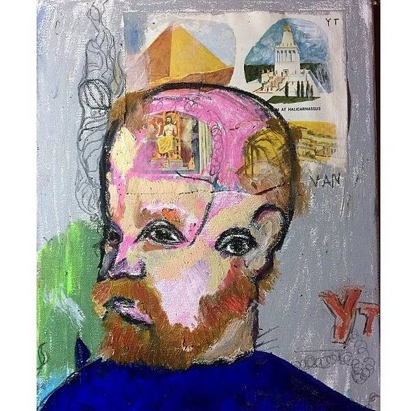 Yt. Style .vincent Van Gogh. Mix Media Art Print