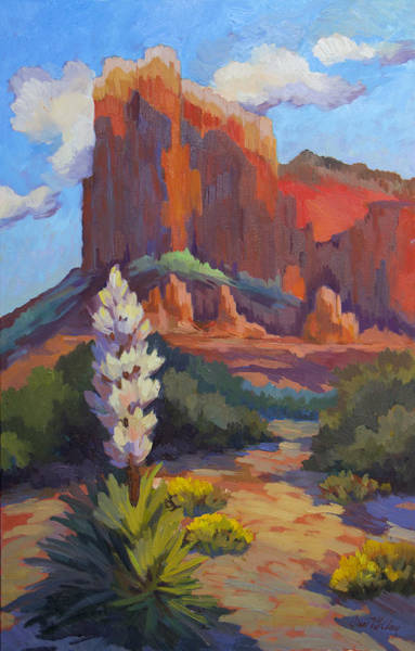 Sonoran Desert Wall Art - Painting - Yucca At Sedona by Diane McClary