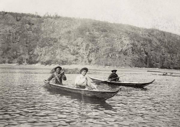 Photograph - Yukon Canoe, C1897 by Granger