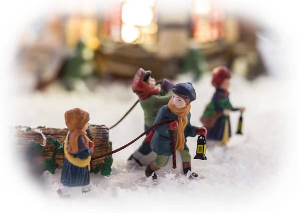 Weihnachten Photograph - Yule Log by Caitlyn  Grasso