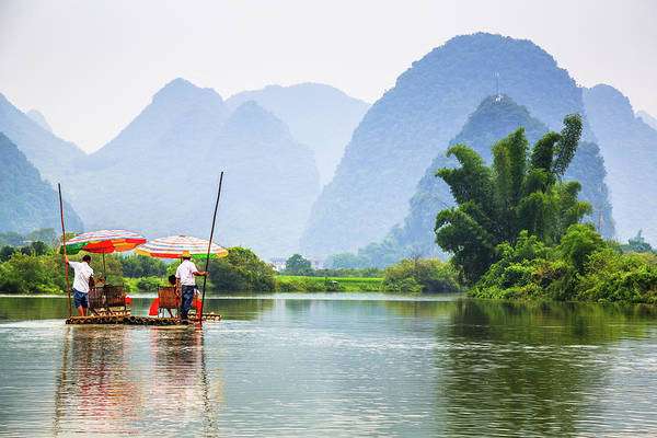 Sunshade Photograph - Yulong River Cruise by Feng Wei Photography