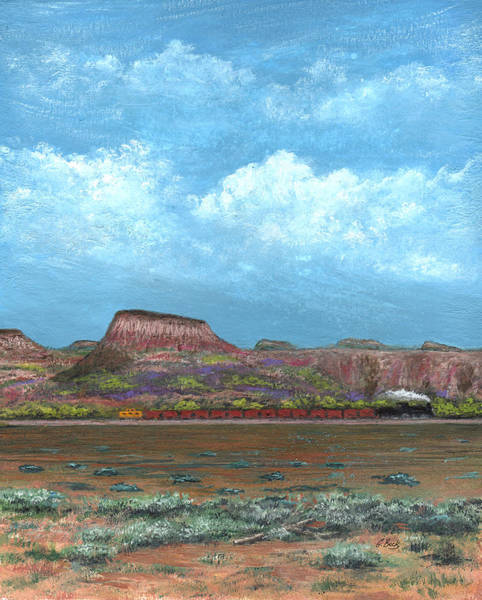 Freight Trains Painting - Yuma Bound by Gordon Beck