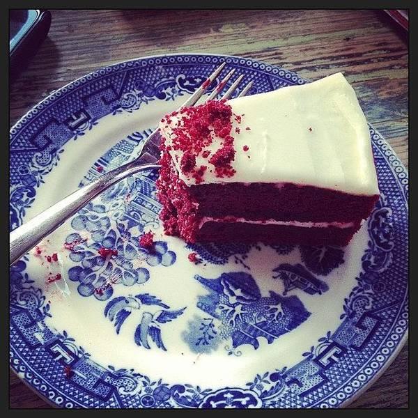 Charity Wall Art - Photograph - Yummmmmm Red Velvet Cake #food by Samantha Charity Hall