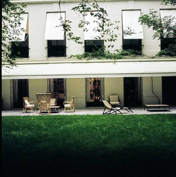 Wall Art - Photograph - Yves Saint Laurent's Patio by Horst P. Horst