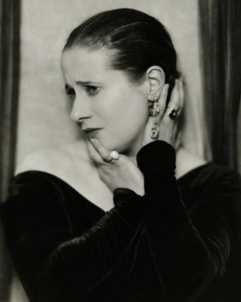 Singer Photograph - Yvonne George Wearing Rings by Nickolas Muray