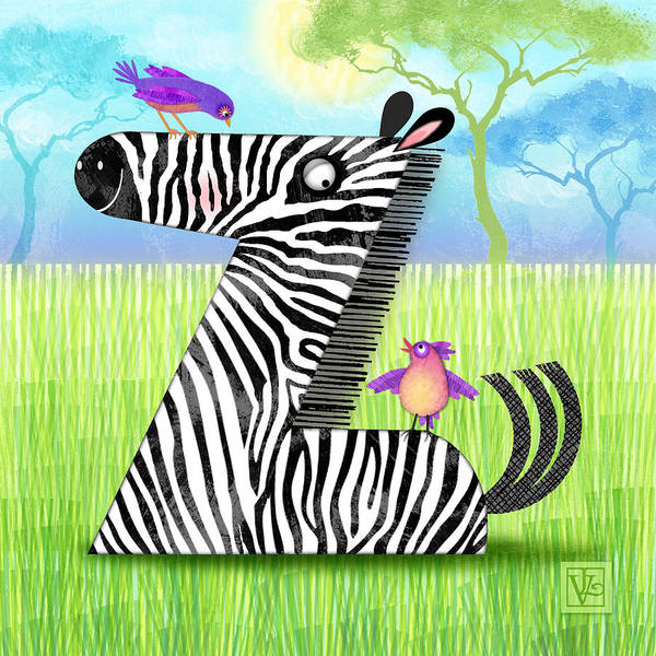 Z Is For Zebra Art Print