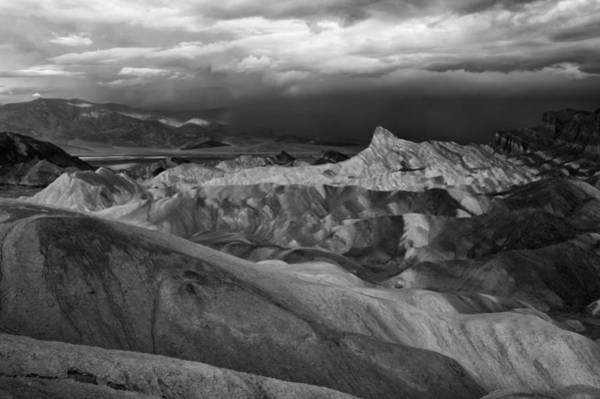 Photograph - Zabriske Point Bw by Jim Dollar
