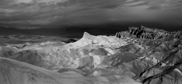 Photograph - Zabriske Point Panorama 03 Bw by Jim Dollar