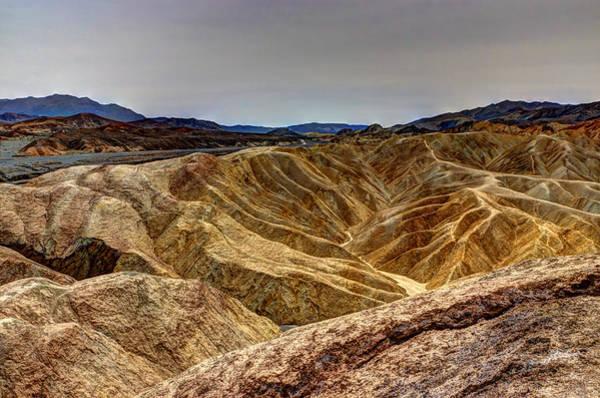 Desolation Photograph - Zabriskie Point Badlands by Heidi Smith