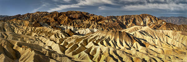 Furnace Creek Photograph - Zabriskie Point Panorama by Eduard Moldoveanu