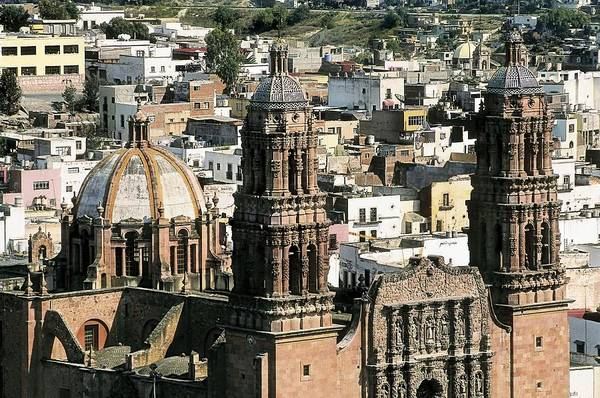 Zacatecas Photograph - Zacatecas Cathedral. 1730-1760. Mexico by Everett