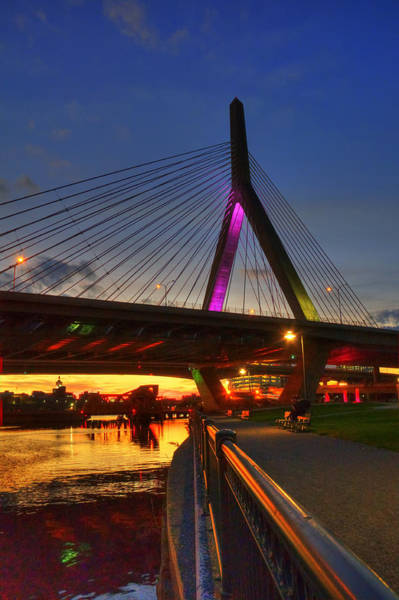 Photograph - Zakim Bridge 5 - Boston by Joann Vitali