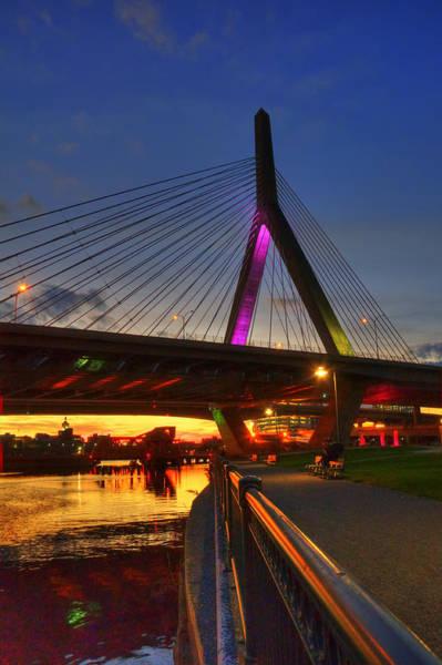 Photograph - Zakim Bridge 5 - Boston by Joann Vitali