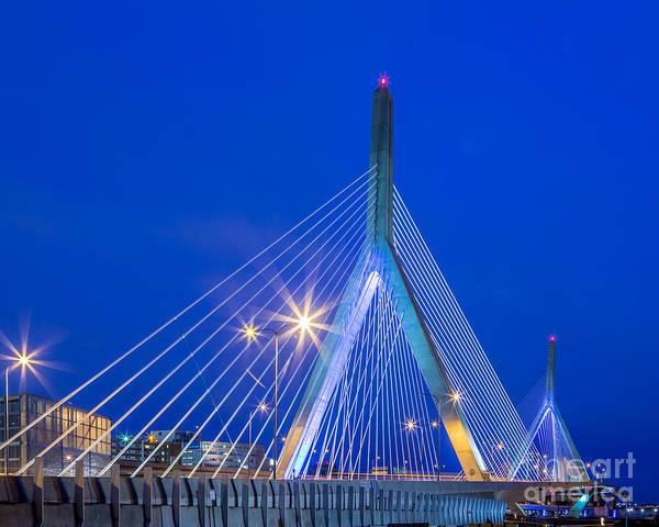 Photograph - Zakim Bridge At Dawn by Susan Cole Kelly