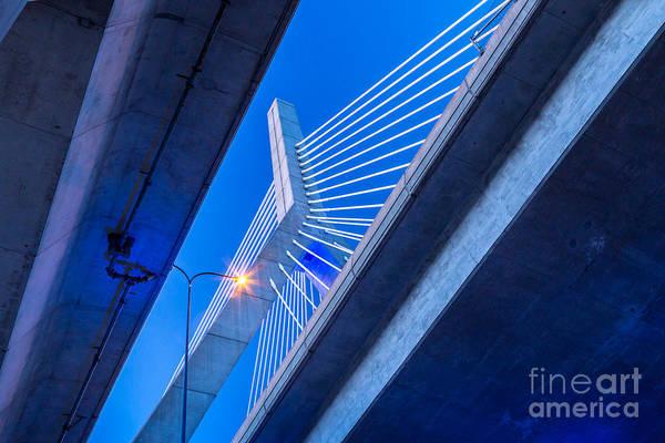 Photograph - Zakim Bridge In Blue by Susan Cole Kelly