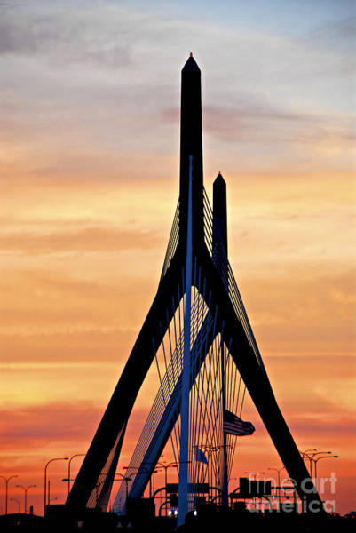 American Revolution Photograph - Zakim Bridge In Boston by Elena Elisseeva