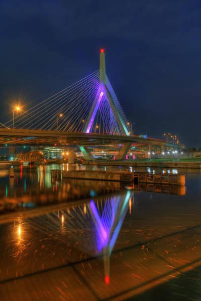 Photograph - Zakim Bridge Reflections 2 by Joann Vitali