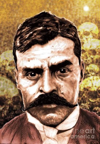 Emiliano Zapata Digital Art - Zapata Resurrection by Alejandro Fonck