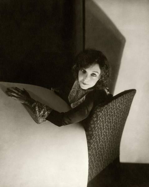 American Beauty Photograph - Zasu Pitts Sitting On An Armchair by Edward Steichen