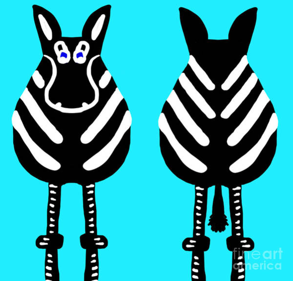 Zebra - Both Ends Art Print