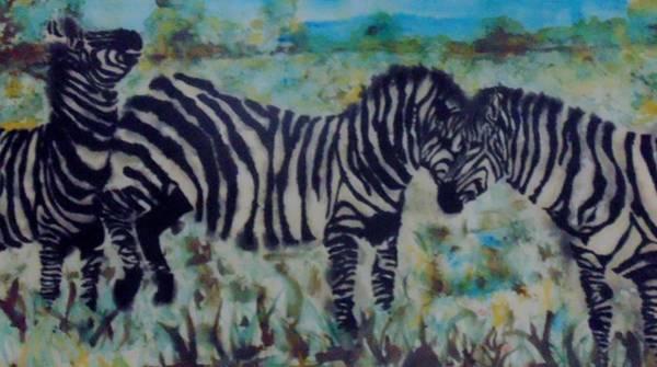Wall Art - Painting - Zebra by Esta Bain