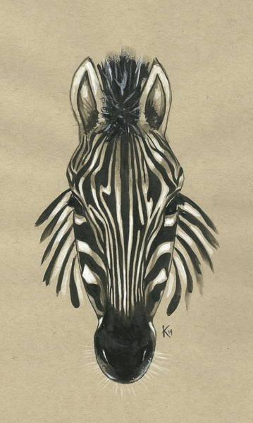 Painting - Zebra Front by Konni Jensen