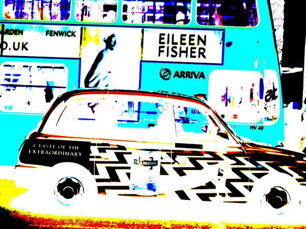 Wall Art - Photograph - Zebra London Cab  by Funkpix Photo Hunter