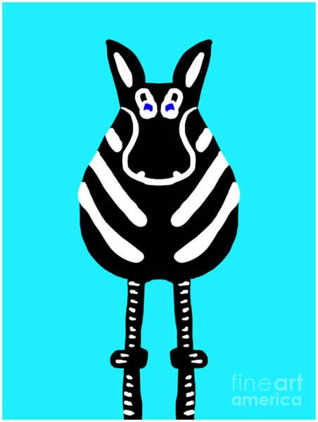 Zebra - The Front View Art Print