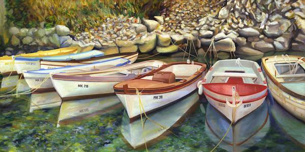 Adriatic Wall Art - Painting - Zeljko's Parking Lot by Joe Maracic