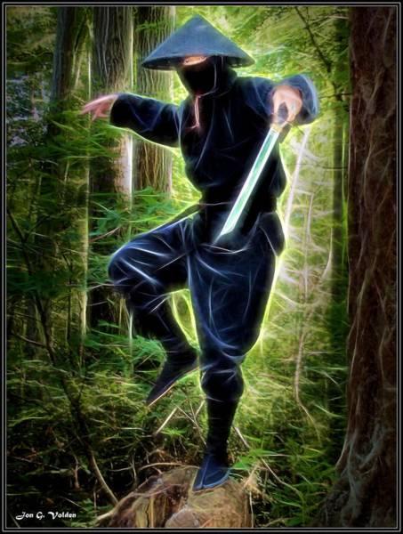 Painting - Zen Of The Ninja by Jon Volden