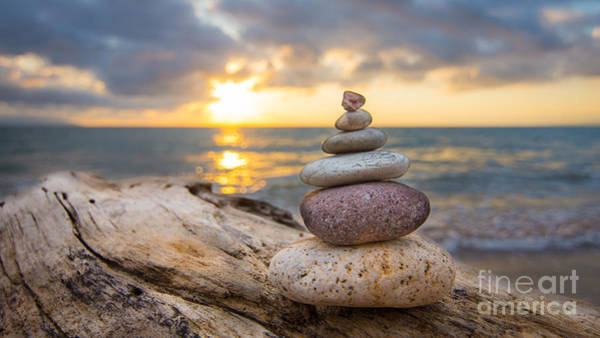 Natural Elements Photograph - Zen Stones by Aged Pixel