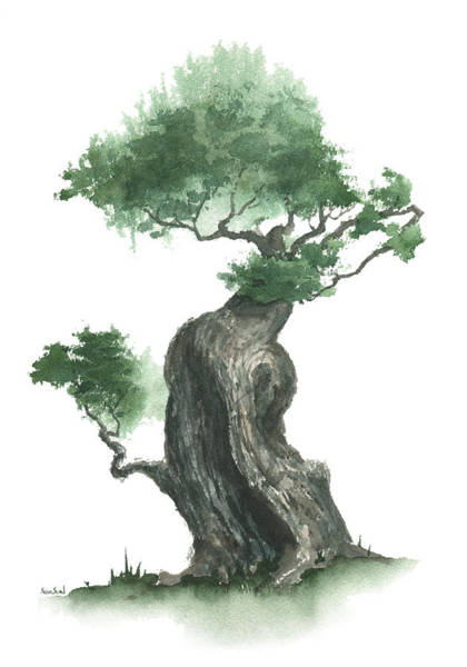 Painting - Zen Tree 1000 by Sean Seal