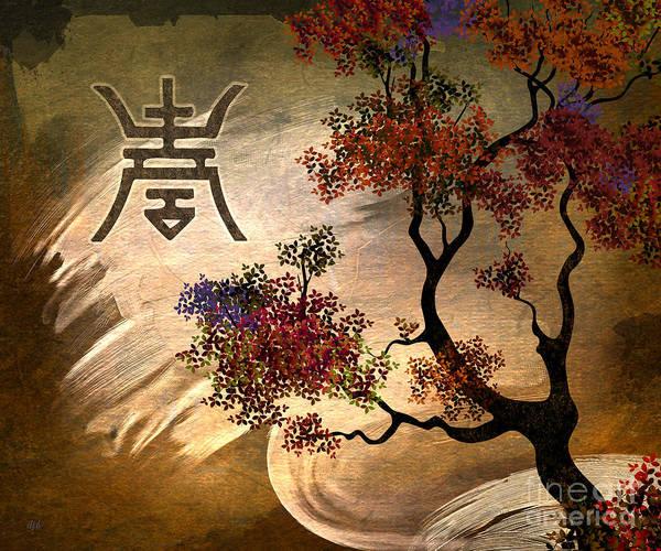 Wall Art - Digital Art - Zen Tree by Peter Awax