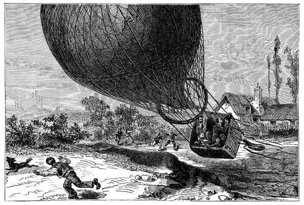'zenith' Balloon Crash Art Print