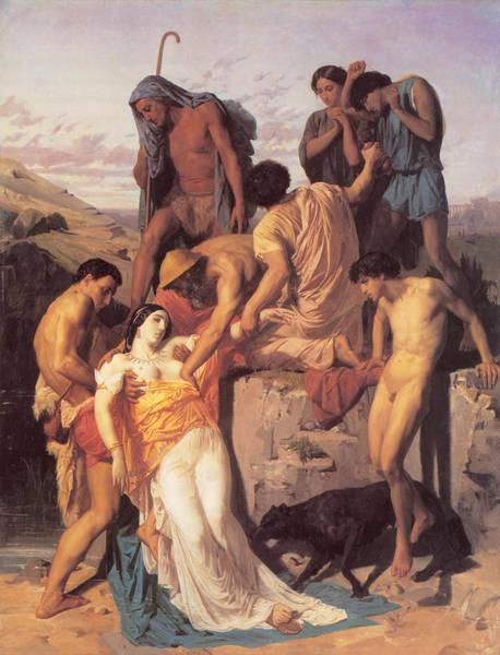 Digital Art - Zenobia Found By Shepherds by William Bouguereau