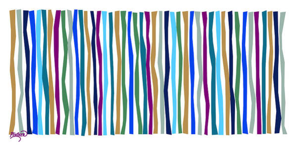 Vertical Line Digital Art - Zen Color Sticks by Patricia Lintner