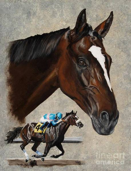 Wall Art - Painting - Zenyatta by Pat DeLong
