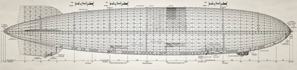 Digital Art - Zeppelin Design by Bill Cannon