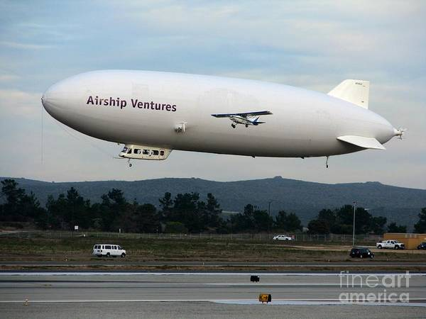 Photograph - Zeppelin In Monterey by James B Toy