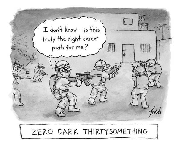 Movie Drawing - Zero Dark Thirtysomething by Tom Toro