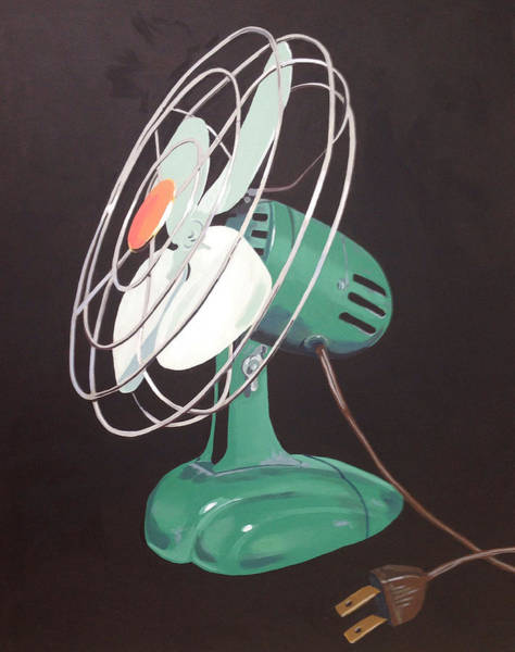 Fan Wall Art - Painting - Zero Vintage Fan by Jeffrey Bess