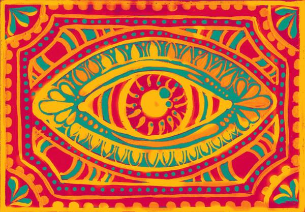 Digital Art - Zesty Gypsi Eye by Nada Meeks