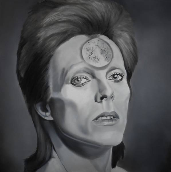 Bowie Painting - Ziggy Stardust by Brian Broadway