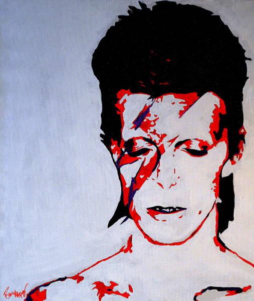 David Bowie Painting - Ziggy Stardust by Ryan Harvey
