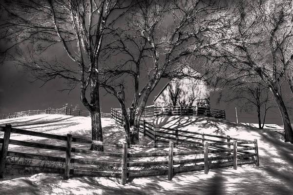 Snow Fence Digital Art - Zigzag Fencerow by William Fields