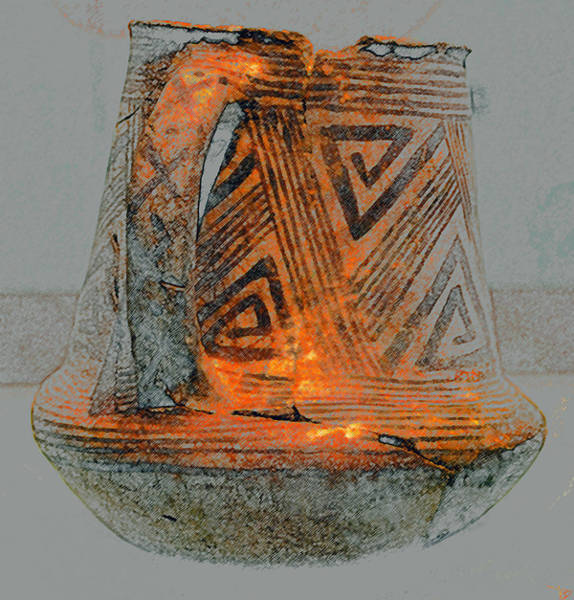 Anasazi Painting - Zigzag Mug With Handle by David Lee Thompson