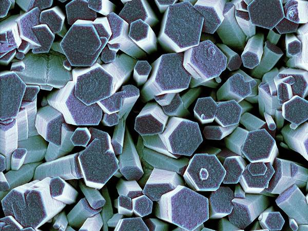 Wall Art - Photograph - Zinc Oxide Crystals by Science Photo Library