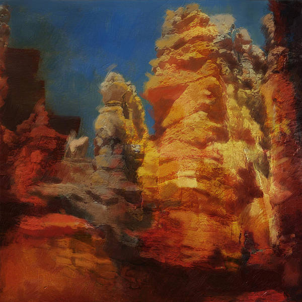 Zion Painting - Zion Canyon by Corporate Art Task Force