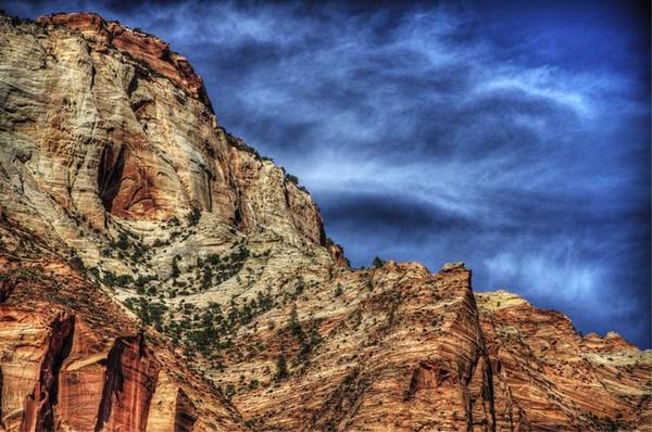 Photograph - Zion Face 695 by Jerry Sodorff