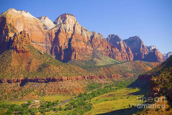 Photograph - Zion Mountain Range by Richard J Thompson